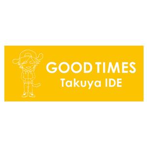 「GOOD TIMES」フェイスタオル