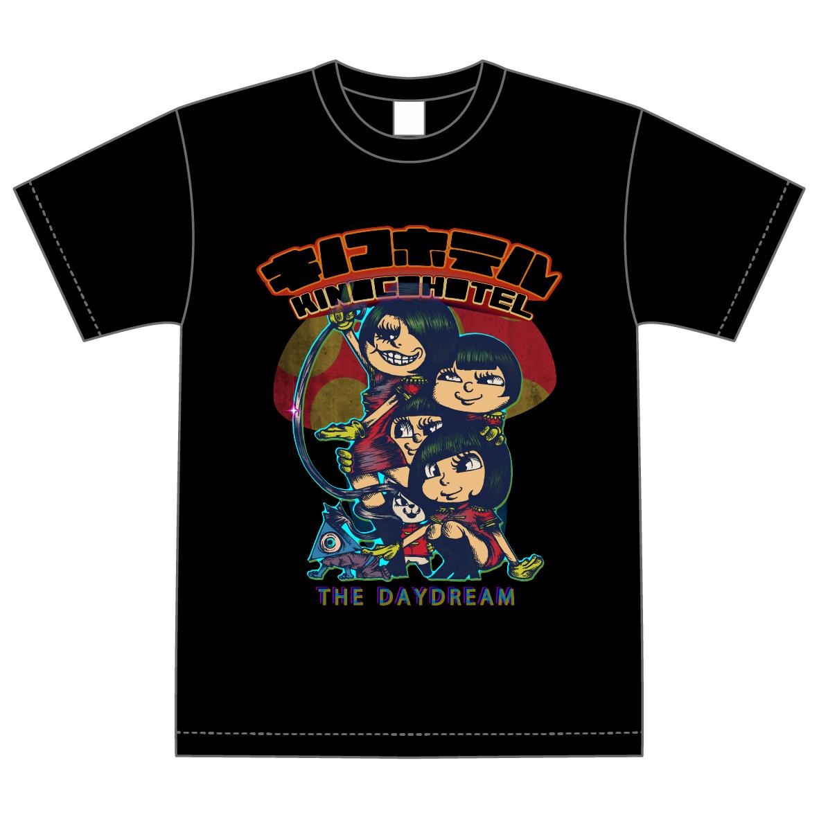 キノコホテル×THE DAYDREAMコラボTシャツ【黒】※SALE