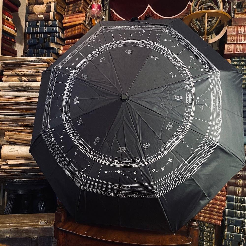 zodiac sign folding umbrella