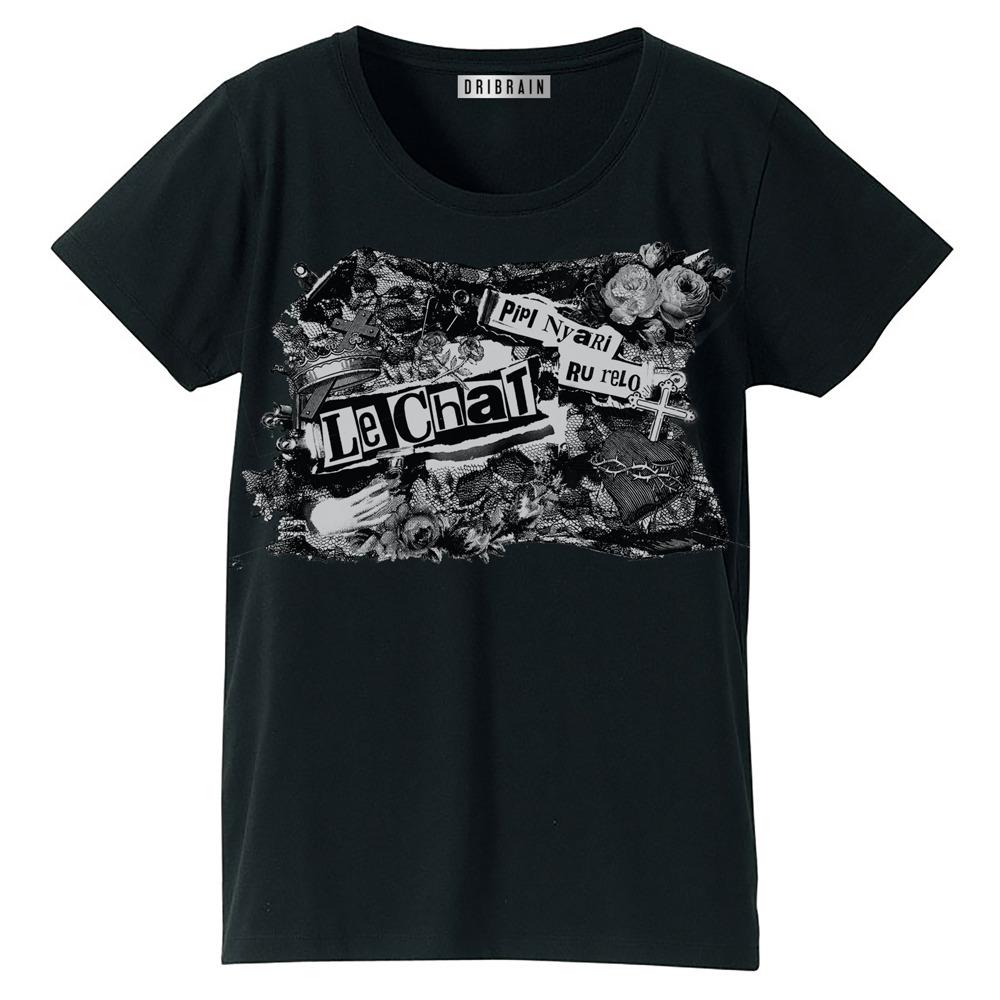ゴシック風 Tシャツ(黒)