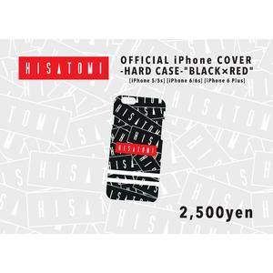 iPhone ハードケース(BLACK×RED)