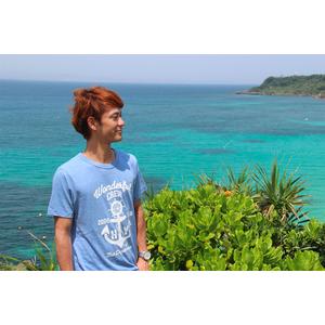Wonderful CREW Tシャツ(霜降りブルー)