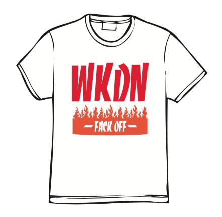 WKDNファイヤーTシャツ(ホワイト)