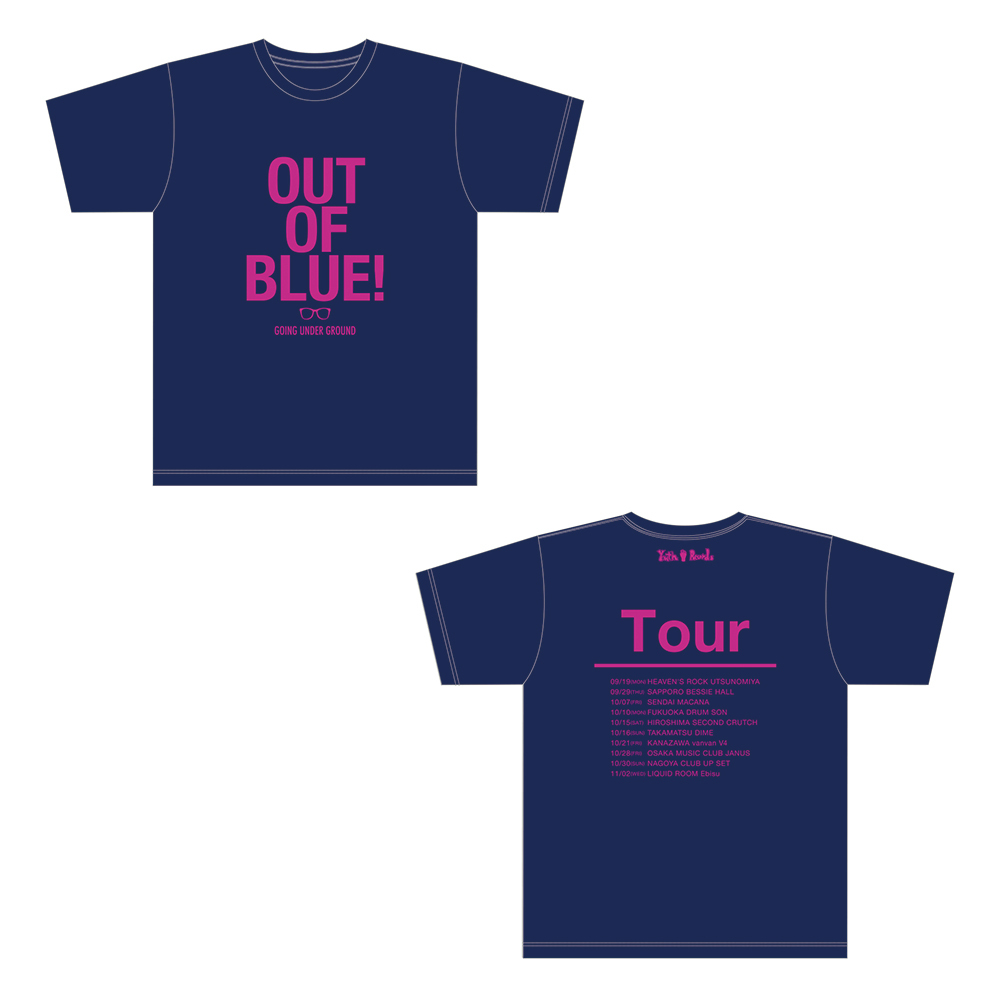 【SALE】「out of blue tour」オフィシャルツアーTシャツ 紺