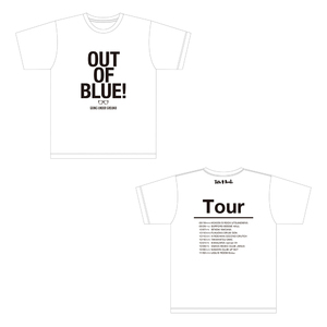 【SALE】「out of blue tour」オフィシャルツアーTシャツ 白