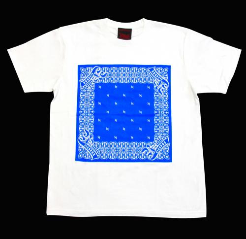 R-RATED BANDANA S/S Tee WHITE x BLUE[RRRW-0006]