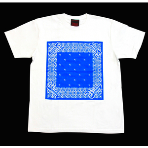 R-RATED BANDANA S/S Tee WHITE x BLUE[RRRW-0006]