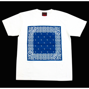 R-RATED BANDANA S/S Tee WHITE x NAVY[RRRW-0006]