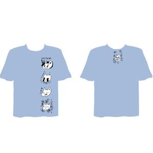 筋肉少女帯2016年秋ツアー オーケンTシャツ LINE スタンプ柄(ライトブルー)