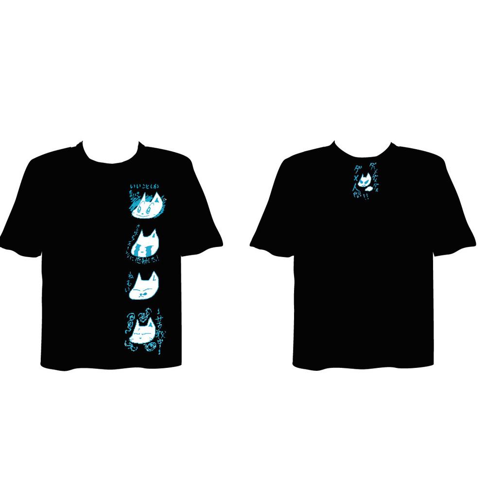 筋肉少女帯2016年秋ツアー オーケンTシャツ LINE スタンプ柄(黒)