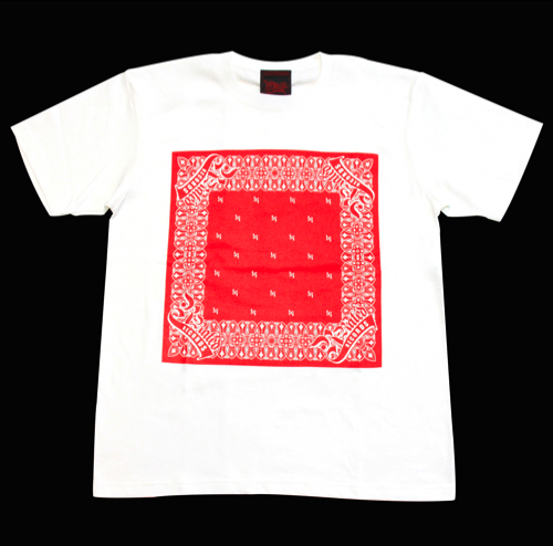 R-RATED BANDANA S/S Tee WHITE x RED[RRRW-0006]