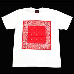 R-RATED BANDANA S/S Tee WHITE x RED[RRRW-0006]