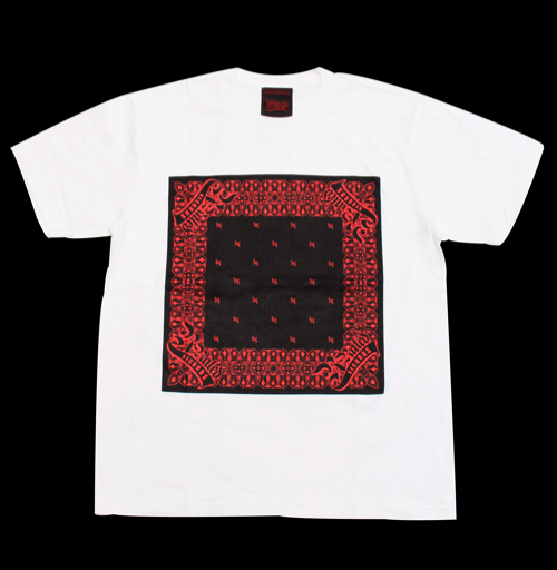R-RATED BANDANA S/S Tee WHITE xBLACK x RED[RRRW-0006]
