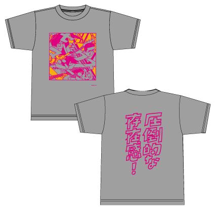 イラストTシャツ(グレー)