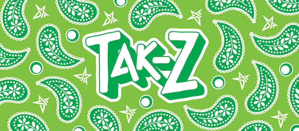 TAK-Z PAISLEY TOWEL (LIME GREEN)