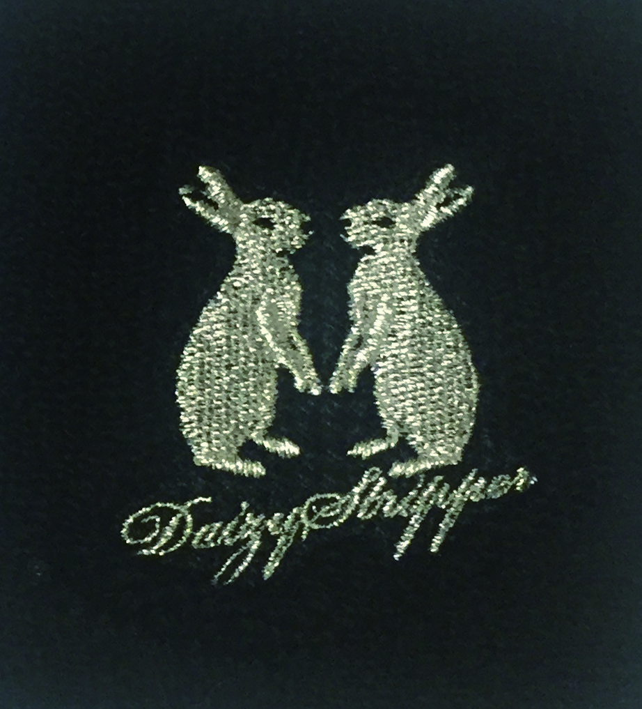 リストバンド ウサギ(Silver) ※銀の刺繍入り