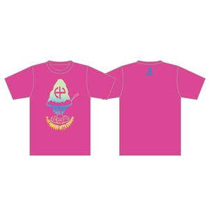 かき氷Tシャツ(蛍光ピンク)