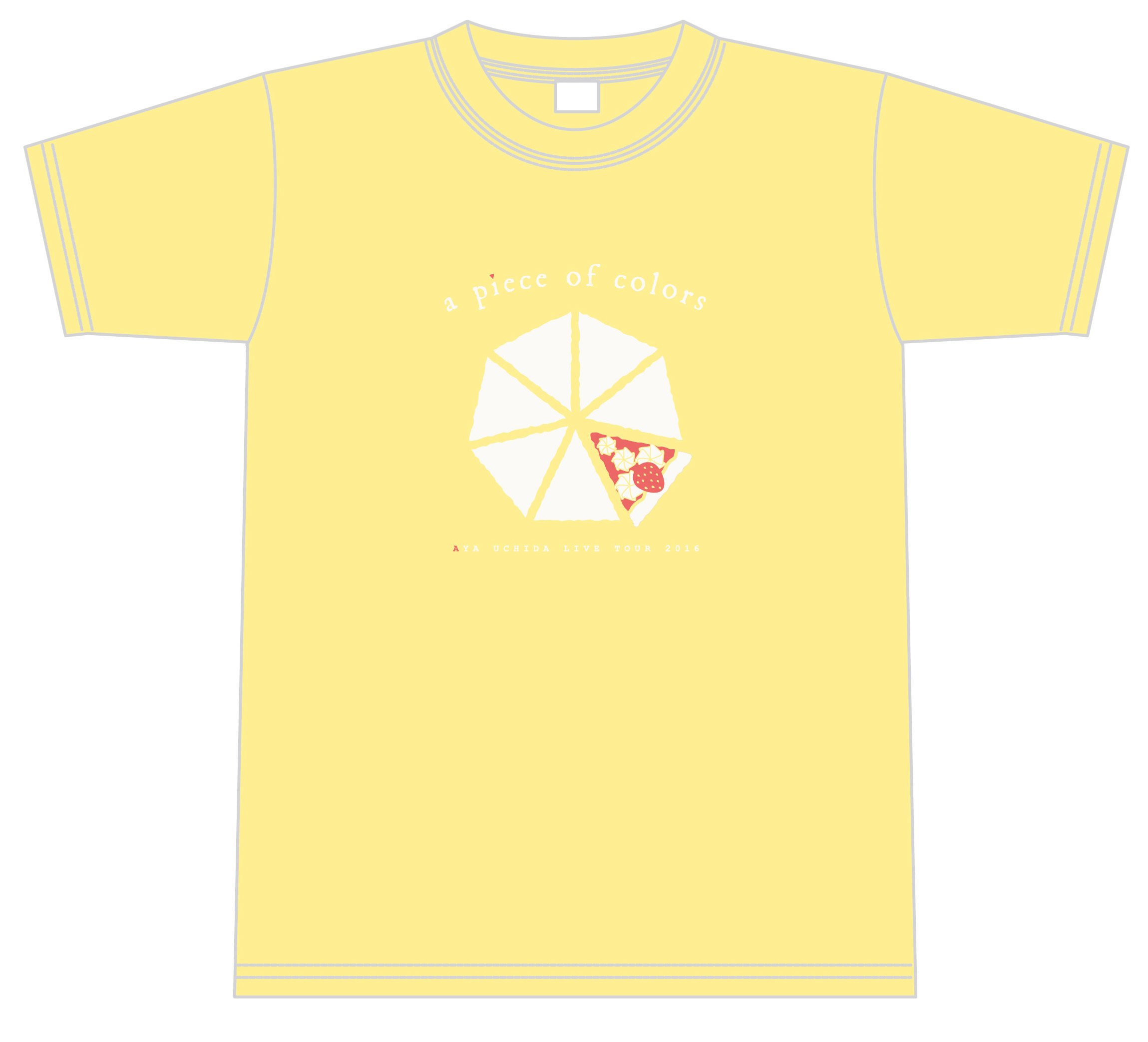 AYA UCHIDA LIVE TOUR 2016 ~a piece of colors~ Tシャツ(仙台ver.)