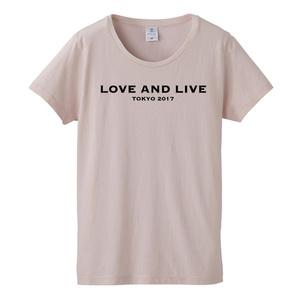 青田典子トークイベントGirls Talk「LOVE&LIVE」Tシャツ【Ladiesピンク】
