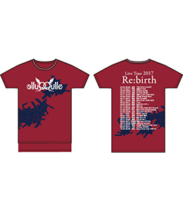 LiveTour2017「Re:birth」Tシャツ(ボルドー)