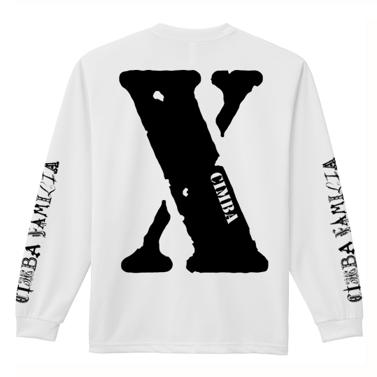 """X"" LONG SLLEVE T-SHIRT / WHITE"