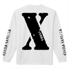 """X"" LONG SLLEVE T-SHIRT / WHITE"