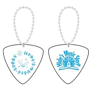 Hide's Music Story Pick Key Charm (White)