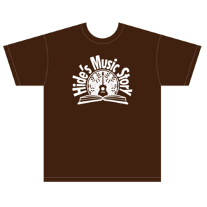 Hide's Music Story T-shirts(Chocolate)