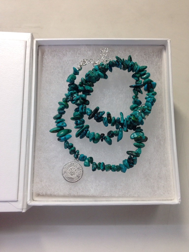 Hide's Music Story Anniversary Original Turquoise Blue Necklace&Bracelet (100セット限定・シリアルナンバー・箱に英之の直筆サイン入り)