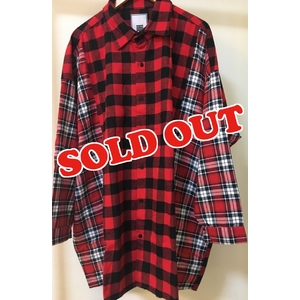 MH Block Check Shirt(RED)