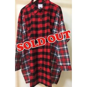 MH Block Check Shirt(RED)
