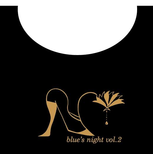 blue's night vol.2 七分袖Tシャツ(イラストver)