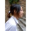 キャンバスボタン付きへアゴム Hair Tie with canvas button