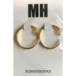 MH フープイアリング(ゴールド)