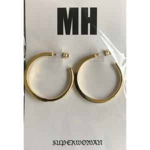 MH フープピアス(ゴールド)