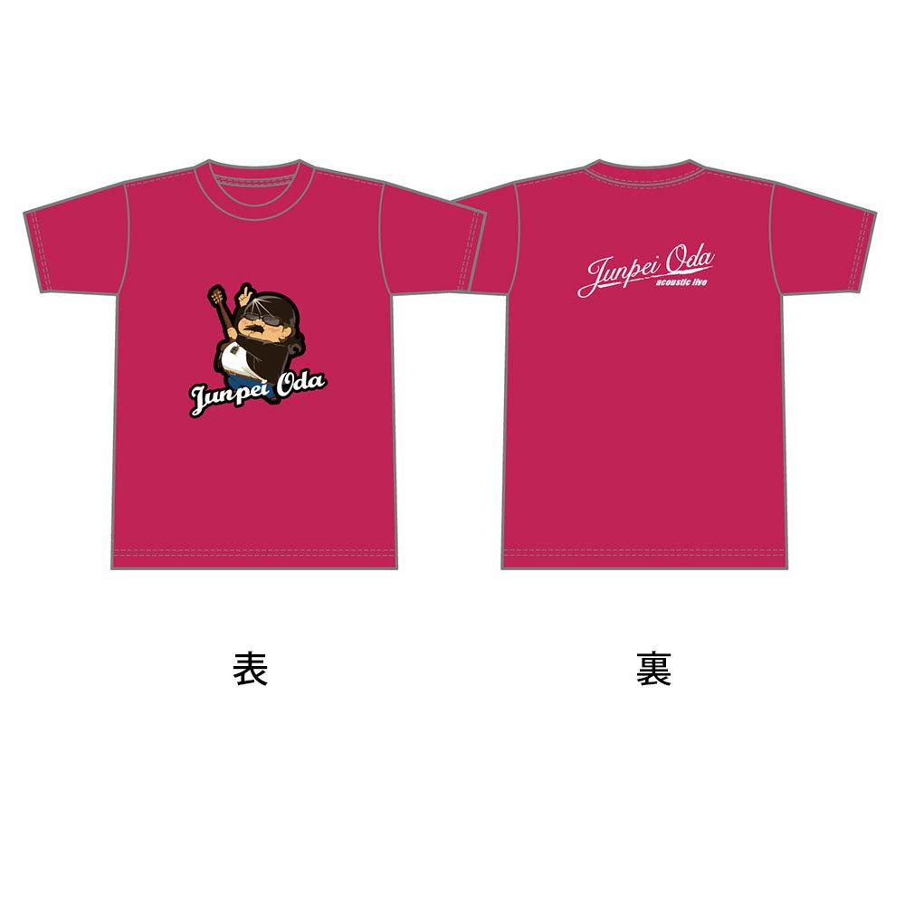 小田純平フルカラーフロントイラストTシャツ(ポケットなし)ピンク