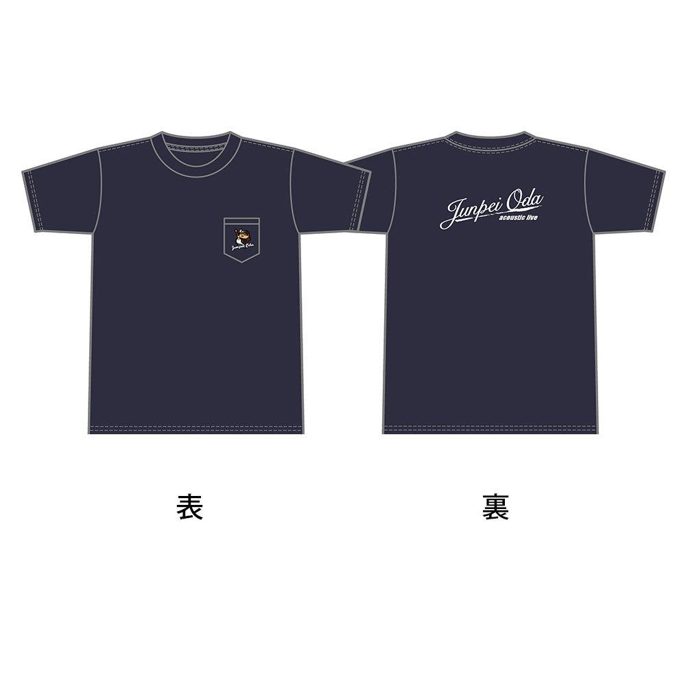 小田純平ツアーTシャツ (ポケット付き)ブラック or ネイビー