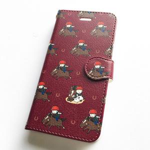サラブレッドLOVE スマホケース(iPhone7/8対応サイズ) 手帳タイプ〈ビューン〉