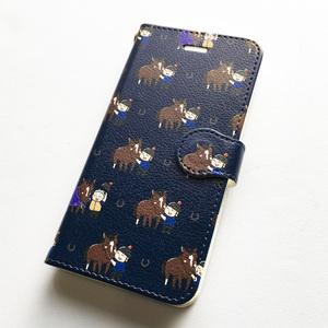 サラブレッドLOVE スマホケース(iPhone7/8対応サイズ) 手帳タイプ〈なでなで〉