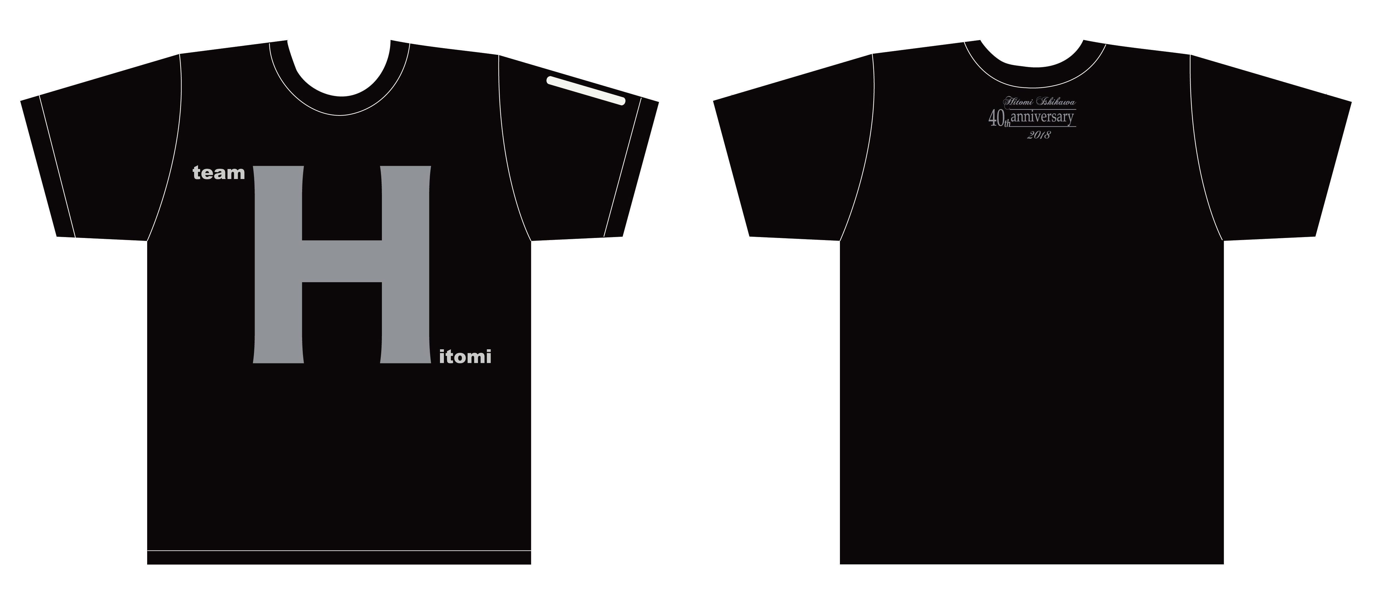 40th Tシャツ(黒)