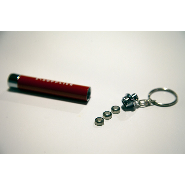 RATED SUPPLIER - フラッシュライトキーホルダー (BLACK/RED)