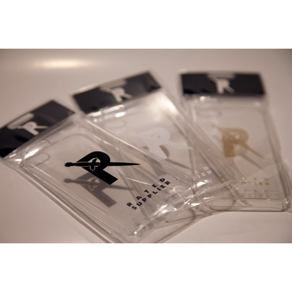 RATED SUPPLIER - iPhone5/iPhone5s ケース クリア (BLACK/GOLD/WHITE)