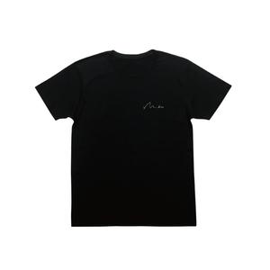 刺繍ロゴTシャツ(ブラック)