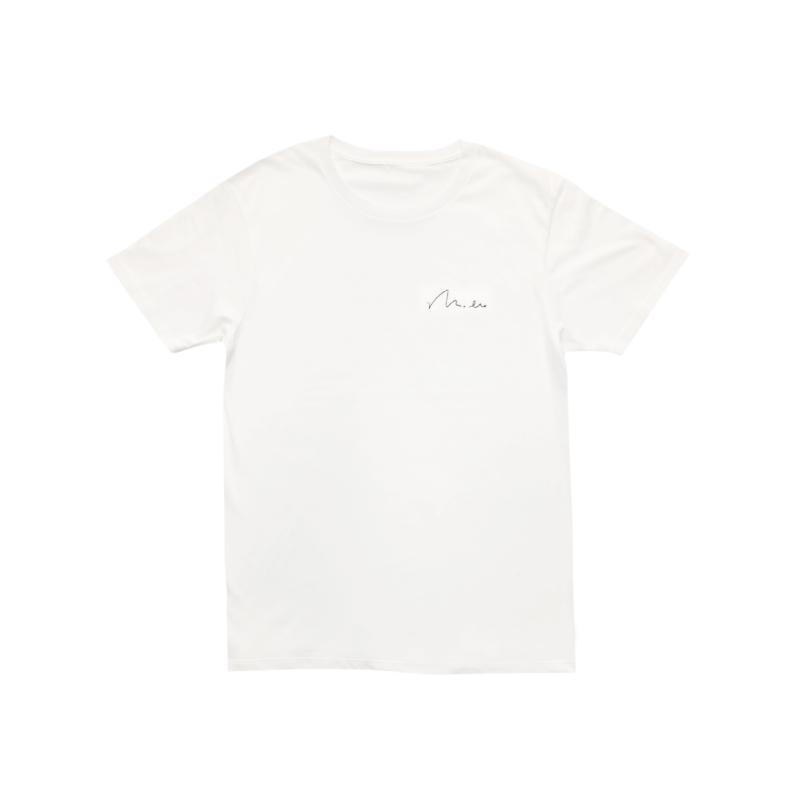 刺繍ロゴTシャツ(ホワイト)
