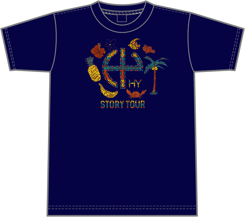 STORY カレット Tシャツ(ネイビー)