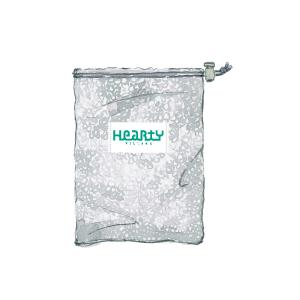 HeartY メッシュ巾着袋(グレー)