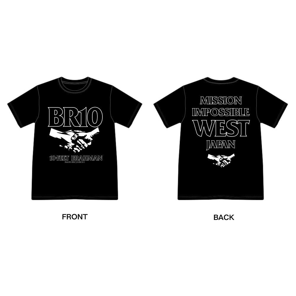 西日本豪雨復興支援 10-FEET × BRAHMAN WネームTシャツ(黒)