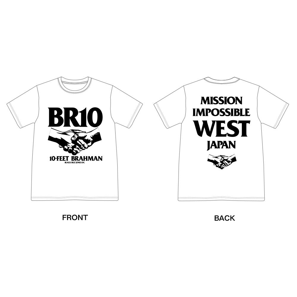 西日本豪雨復興支援 10-FEET × BRAHMAN WネームTシャツ(白)