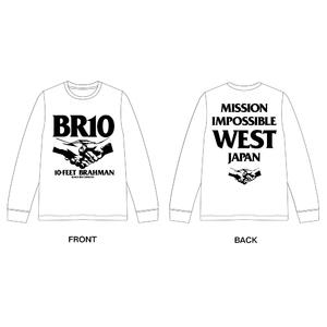 西日本豪雨復興支援 10-FEET × BRAHMAN WネームロングスリーブTシャツ(白)