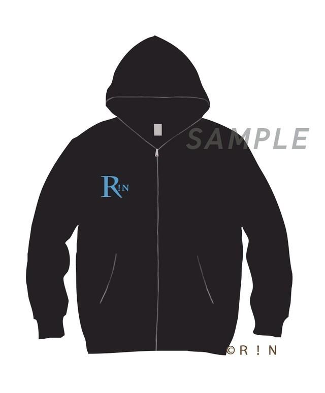 R!N Hoodie Black-Blue